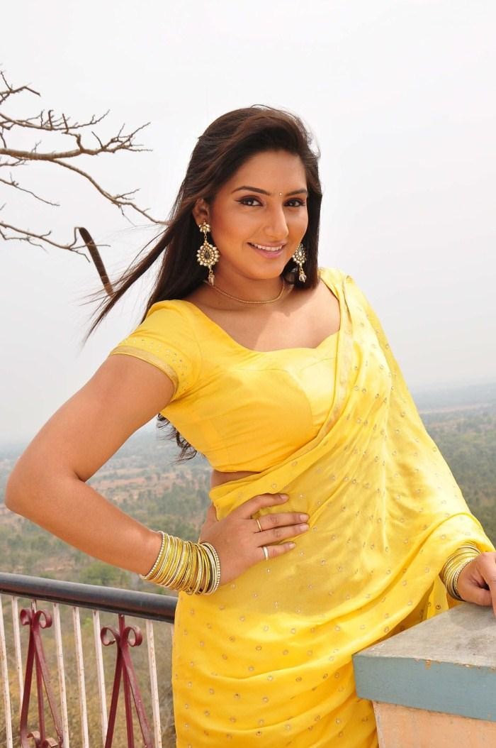 Ragini Dwivedi Hot Stills In Yellow Saree  Visit Www -2757