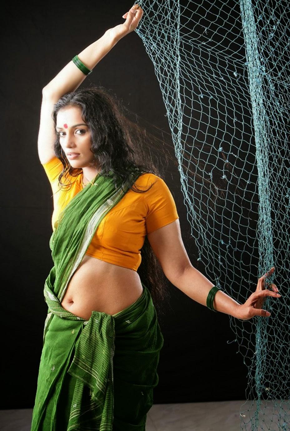 Actress Swetha Menon Hot Photoshoot Pics In Saree  Visit -5179