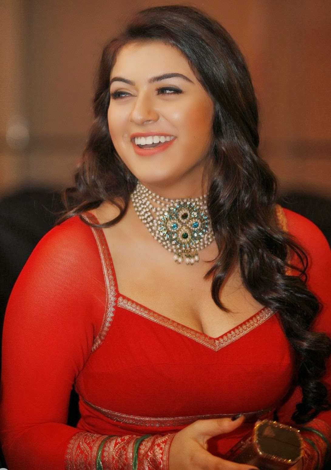 Hansika Motwani Hot Low Neck Dress At Siima Awards  Visit Wwwfilmybolin-8471