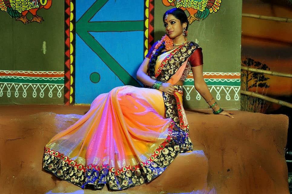 Telugu Actress Jyothi In Blue Salwar: Telugu Actress Udaya Bhanu Hot Stills In Saree